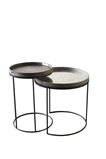 Notre Monde set/2 round tray table - high z/plateaus 49/62cm