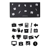 Design Letters office icons voor letterbord black *