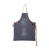 Dutchdeluxes BBQ style denim apron washed grey