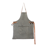 Dutchdeluxes BBQ style canvas apron grey green