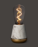 Humble One Table Light white marble / brass