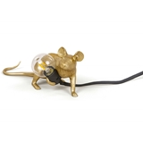 Seletti Mouse lamp gold lie down