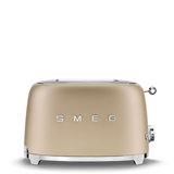 Smeg broodrooster 2 sleuf / 2 snee mat champagne